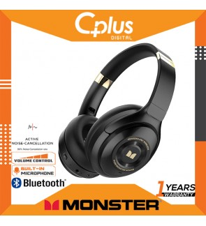 Monster Persona Active Noise Cancelling Headphones Over Ear Bluetooth Wireless Headphones Deep Bass Stereo Sound Quick Charge Memory Foam Ear Cushions 30H Playtime for Travel Home Office