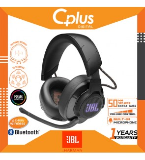 JBL Quantum 600 2.4Ghz Wireless Over-Ear Performance RGB Gaming Headset with Surround Sound and Game-Chat Balance Dial