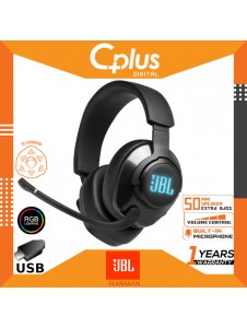 JBL Quantum 400 Wired Over-Ear RGB Gaming Headset with QuantumSurround, Discord Certified Game Chat Dial & Voice Focus Boom Mic