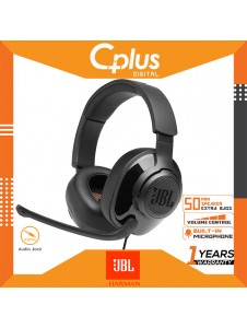 JBL Quantum 200 Wired Over-Ear Gaming Headset with Flip-up Mic & Discord Certified