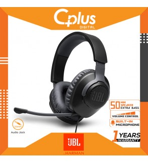 JBL Quantum 100 Wired Over-Ear Gaming Headset with Detachable Mic