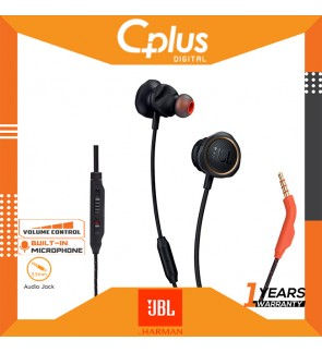 JBL Quantum 50 Wired in-Ear Gaming Headphone with Twistlock Technology, Inline Voice Focus Microphone and Volume Slider