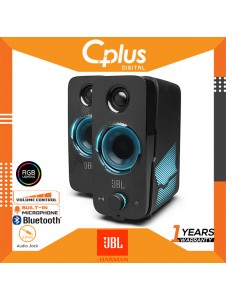 JBL Quantum Duo 20W Gaming Speakers, USB Powered, PC Speakers, Powerful JBL Sound With LED Colour Lights