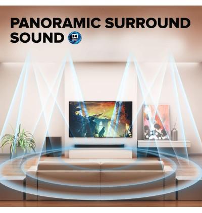 JBL Bar 5.1 Immersive Channel Soundbar with U-HD 4K Pass Through, Surround Sound,Multi-Beam Sound & Built-in Chromecast