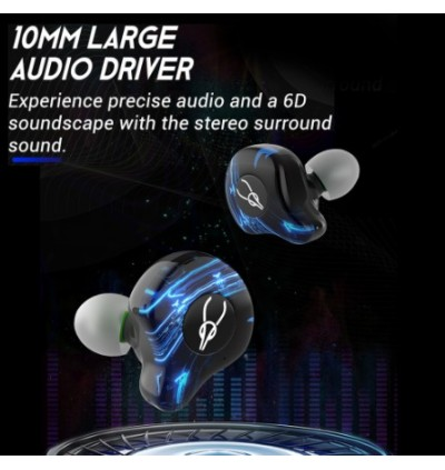 Sabbat G12 Elite Gaming Series Bluetooth 5.0 TWS Earphones Dual Modes 40MS Ultra Low Latency, IPX5 Water Resistant