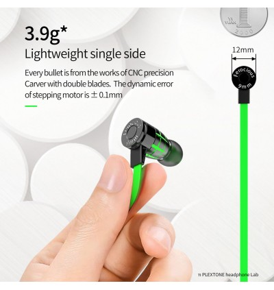 Plextone G25 Super Bass Gaming Magnetic In-Ear Earphone With Mic,  Earphone For Smartphone Mobile PC PUBG