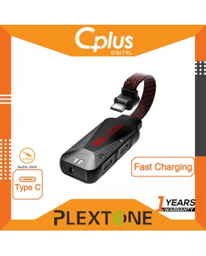 Plextone GS1 Mark II Type-C to 3.5mm AUX Audio Jack High Res Type C Gaming Audio & Charge Adapter