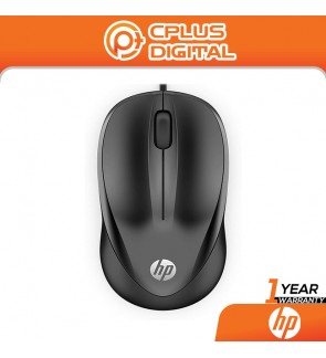 HP 1000 USB Wired Mouse - Plug N Play