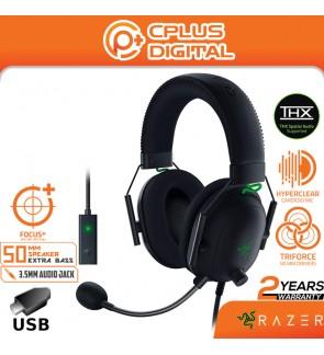 Razer BlackShark V2 Gaming Headset: THX 7.1 Spatial Surround Sound - 50mm Drivers, 3.5 mm Audio Jack & USB DAC