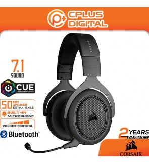 Corsair HS70 Bluetooth - Wired Gaming Headset with Bluetooth - Works with PC,Xbox Series,PS5,Nintendo, iOS and Android