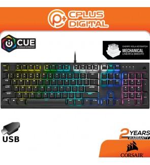 CORSAIR K60 Pro RGB / Red LED Backlit Wired Full Key Mechanical Gaming Keyboard - Black | Cherry MX Viola