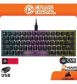 Corsair K65 RGB Mini 60% Mechanical Gaming Keyboard (RGB Backlighting,CHERRY MX Speed,AXON Hyper-Processing Technology)