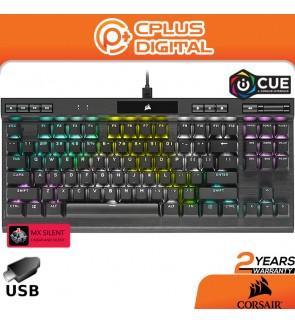 CORSAIR K70 RGB TKL – Champion Series Tenkeyless Mechanical Gaming Keyboard - Cherry MX Speed Keyswitches - Durable Aluminum Frame - RGB LED Backlighting