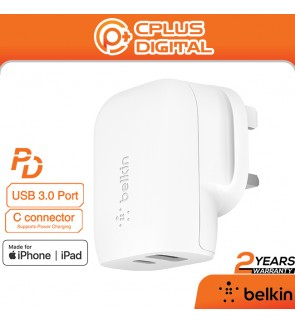 Belkin Boost Charge 32W USB-C Wall Charger - Fast Charger for iPhone,Samsung,Huawei, and More) -WCB004myWH