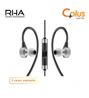 RHA MA750i: Premium Stainless Steel High-Res Noise Isolating In-Ear Headphones with Remote & Mic - 1st Generation