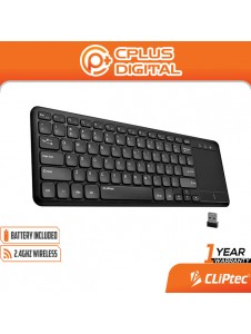 CLiPtec SLIMTOUCH-AIR RZK355 Ultra-Slim Wireless Keyboard with Touchpad & ON/OFF Button (Support Smart TV)