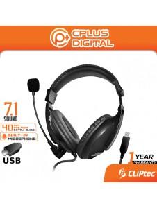 CLiPtec U-SoundMate BUH288 USB Virtual 7.1 Multimedia Stereo Headset with Microphone