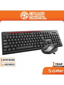 CLiPtec RZK341 Wireless Multimedia Silent Keyboard and Mouse Combo set (Workspace-Air Xilent )