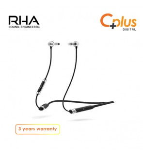 RHA MA390 Wireless In-Ear Headphones: Sweatproof Noise Isolating Bluetooth Earbuds