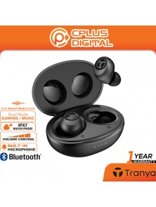 Tranya T10-B Ultra Low-Latency Gaming Earbuds with 12mm Graphene Driver & cVc 8.0 Noise Reduction Mic