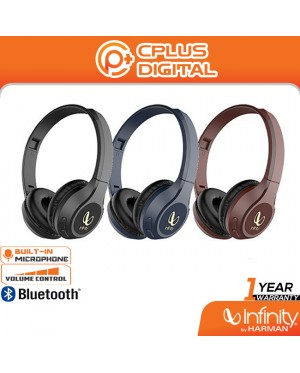 Infinity by Harman Tranz 700 Wireless On-Ear Headphones - Infinity Deep Bass Sound | 20H Playtime | Magnetic