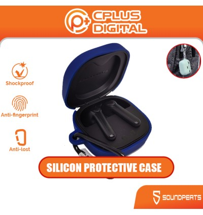 SoundPEATS Trueair 2 / Trueair 2 Plus Silicone Protective Earphone Case with Anti-Lost Buckle