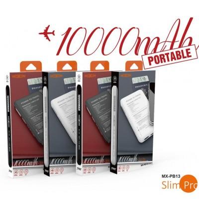 MOXOM MX-PB13 Slim Pro Design 2.4A Dual USB Output Port Capacity Powerbank 10000mAh