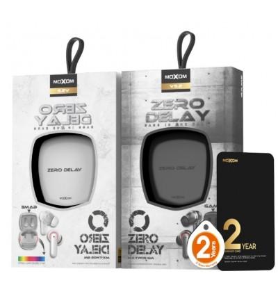 MOXOM Gaming Earbuds Zero Delay TWS Wireless Earphone Headset Smart Noise Reduction HIFI Super Bass MX-TW05