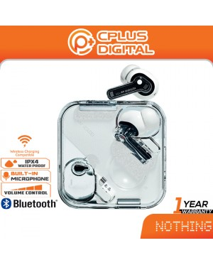 Nothing Ear (1) Bluetooth 5.2 True Wireless with Transparent Design + ANC up to -40dB + 11.6mm Dynamic Driver
