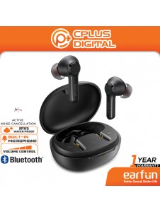 EarFun Air Pro 2 Hybrid Active Noise Cancelling Bluetooth 5.2 True Wireless with 6 Mics, in-Ear Detect, Ambient Mode,