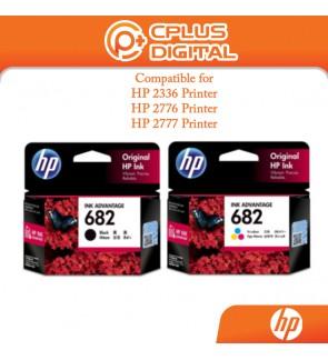 HP 682 Original Ink Advantage Cartridge - Black/Tri-Color for HP Printer 2336 / 2776 / 2777