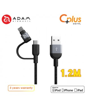 Adam Elements Peak Duo 120B USB to Micro + Lightning Cable 1.2M