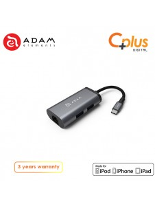 Adam Elements Casa Hub eC301 USB3.1 Type C to LAN, 3 in1 Type-C Multi-Function Hub