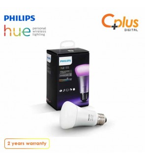 Philip Hue 10W A60 E27 Light Bulb (Works with Alexa Apple HomeKit and Google Assistant)