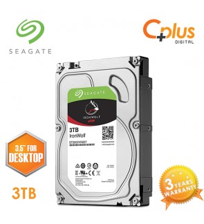 "Seagate 3TB 3.5"" IronWolf NAS SATA 64MB Cache 5900RPM Internal Hard Drive"