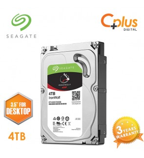 "Seagate 4TB 3.5"" IronWolf NAS SATA 64MB Cache 5900RPM Internal Hard Drive"