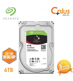 "Seagate 6TB 3.5"" IronWolf NAS SATA 256MB Cache 7200RPM Internal Hard Drive"