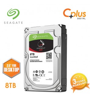 "Seagate 8TB 3.5"" IronWolf NAS SATA 256MB Cache 7200RPM Internal Hard Drive"