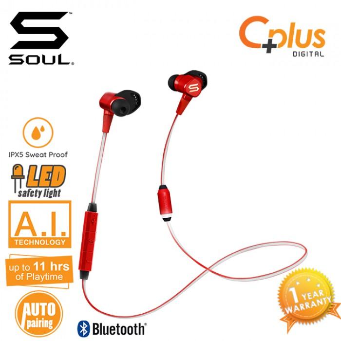 3135d40ee56 SOUL RUN FREE PRO BIO Voice Coaching Bluetooth V4.1 Wireless Running  Earphones