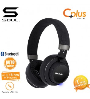 SOUL IMPACT OE WIRELESS High Efficiency Over-Ear Headphones with Bluetooth V4.1 (Black)