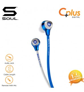 SOUL SL99 High-Def Sound Isolation In-Ear Headphones (Blue/White)