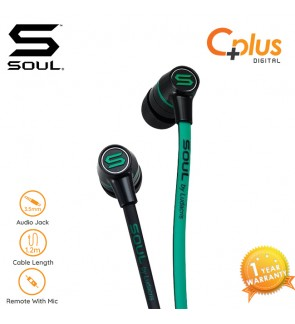 SOUL SL49 Ultra Dynamic In-Ear Headphones with Mic (Green)