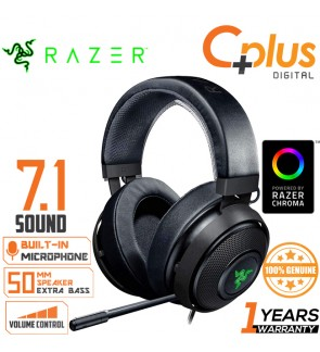 Razer Kraken 7.1 V2: Lightweight Aluminum Frame 7.1 Surround Sound Gaming Headset With Noise Cancelling Mic Works with PC, PS4, Xbox One, Switch, & Mobile Devices