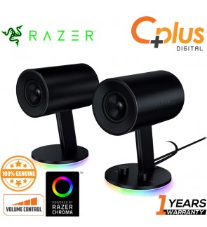 Razer 2.0 Chroma RGB Gaming Speakers Custom Woven Glass Fibre 3-inch Drivers - Nommo
