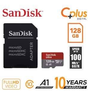 SanDisk Ultra 100mb/s 128GB microSDXC Memory Card + SD Adapter with A1 App Performance up to 100MB/s