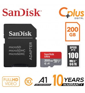 SanDisk Ultra 100mb/s 200GB microSDXC Memory Card + SD Adapter with A1 App Performance up to 100MB/s