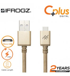 iFrogz Uniquesync Premium 2.4A USB to Micro USB Charge and Sync Cable 1.5M