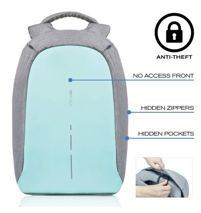 XD Design Bobby Compact Anti-Theft Unisex Laptop Backpack with USB port
