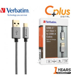Verbatim 3.1 Gen 2 Sync & Charge USB-C to USB-A Cable  2.0M