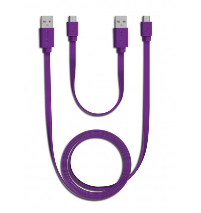 Verbatim 20cm+120cm USB to Micro USB Charge & Sync Cable Combo Pack